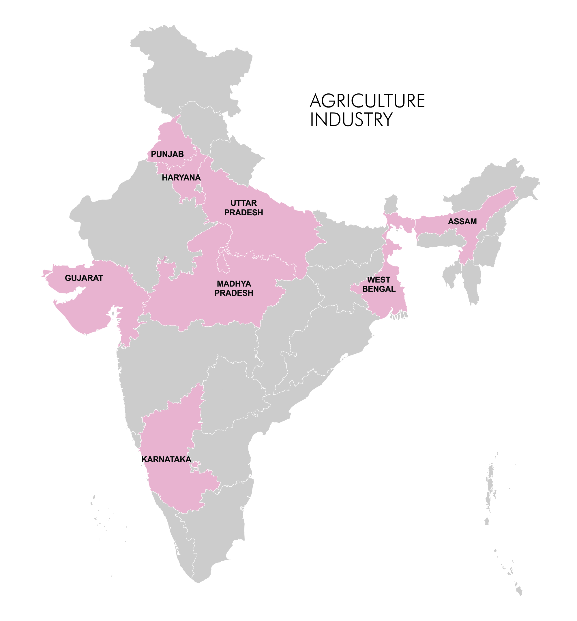 Map - Industry Clusters: Agriculture