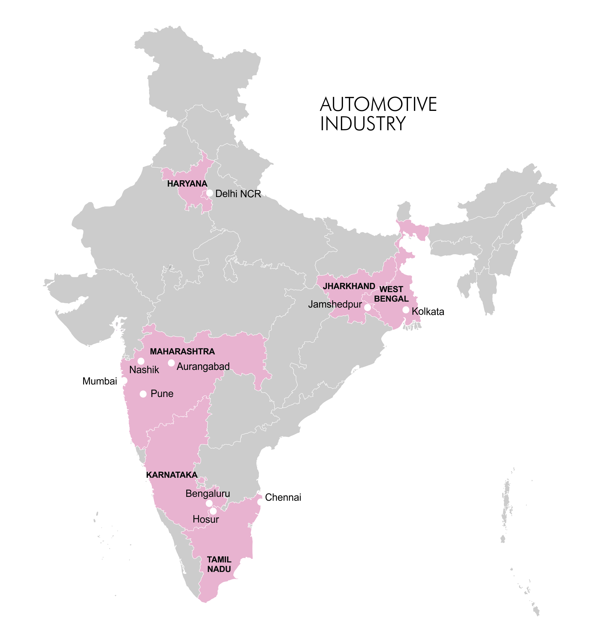 Map - Industry Clusters: Automotive