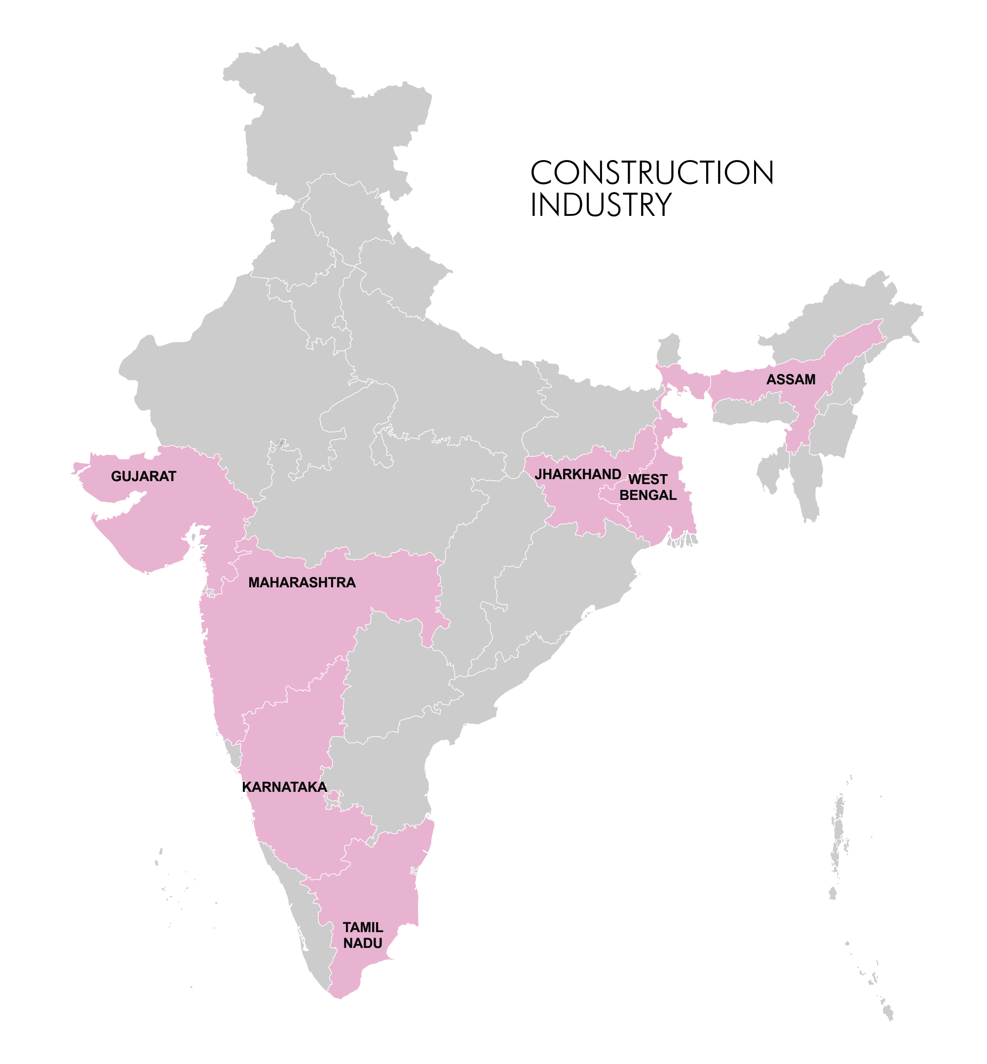 Map - Industry Clusters: Construction