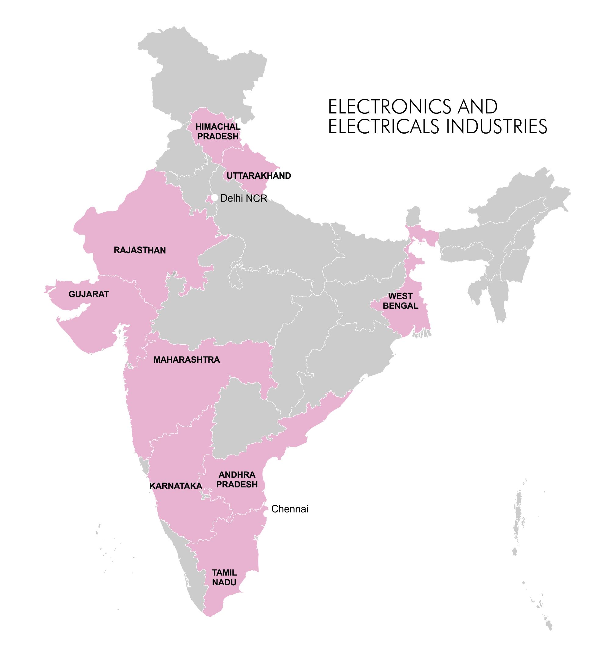 Map - Industry Clusters: Electronics