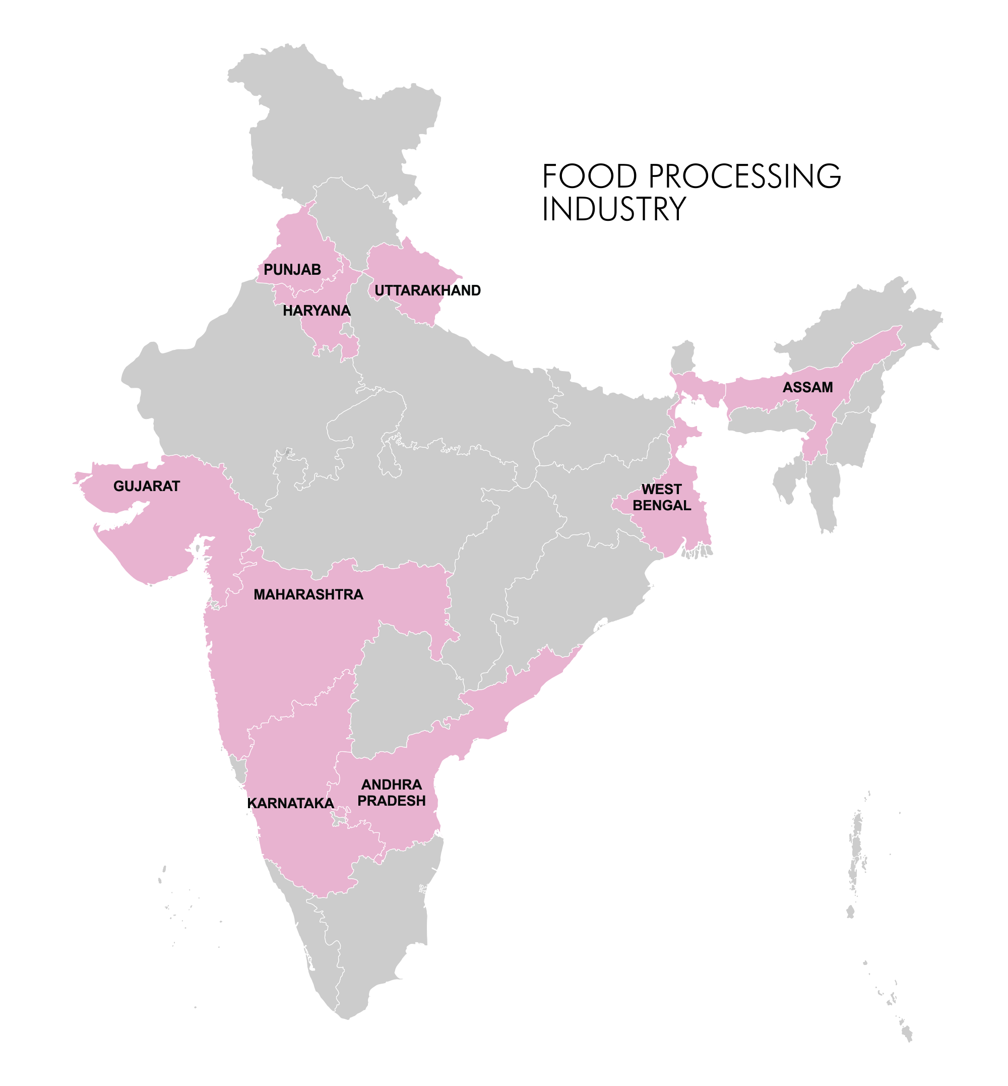 Map - Industry Clusters: Food Processing