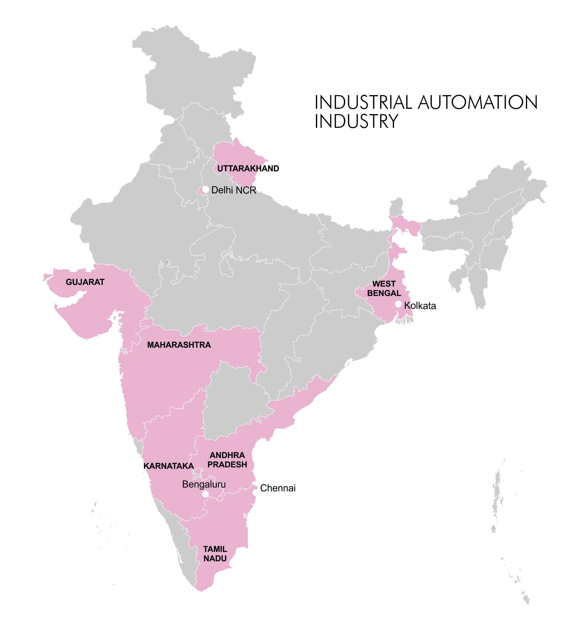 Map - Industry Clusters: Industrial Automation