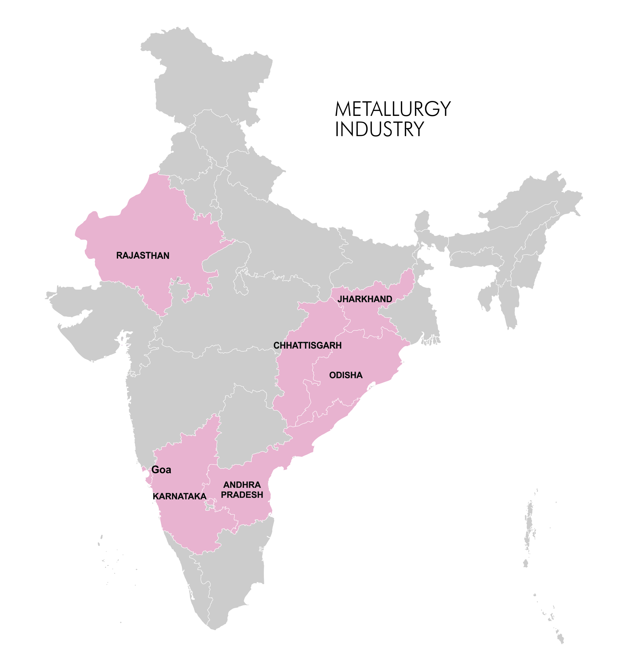 Map - Industry Clusters: Metallurgy