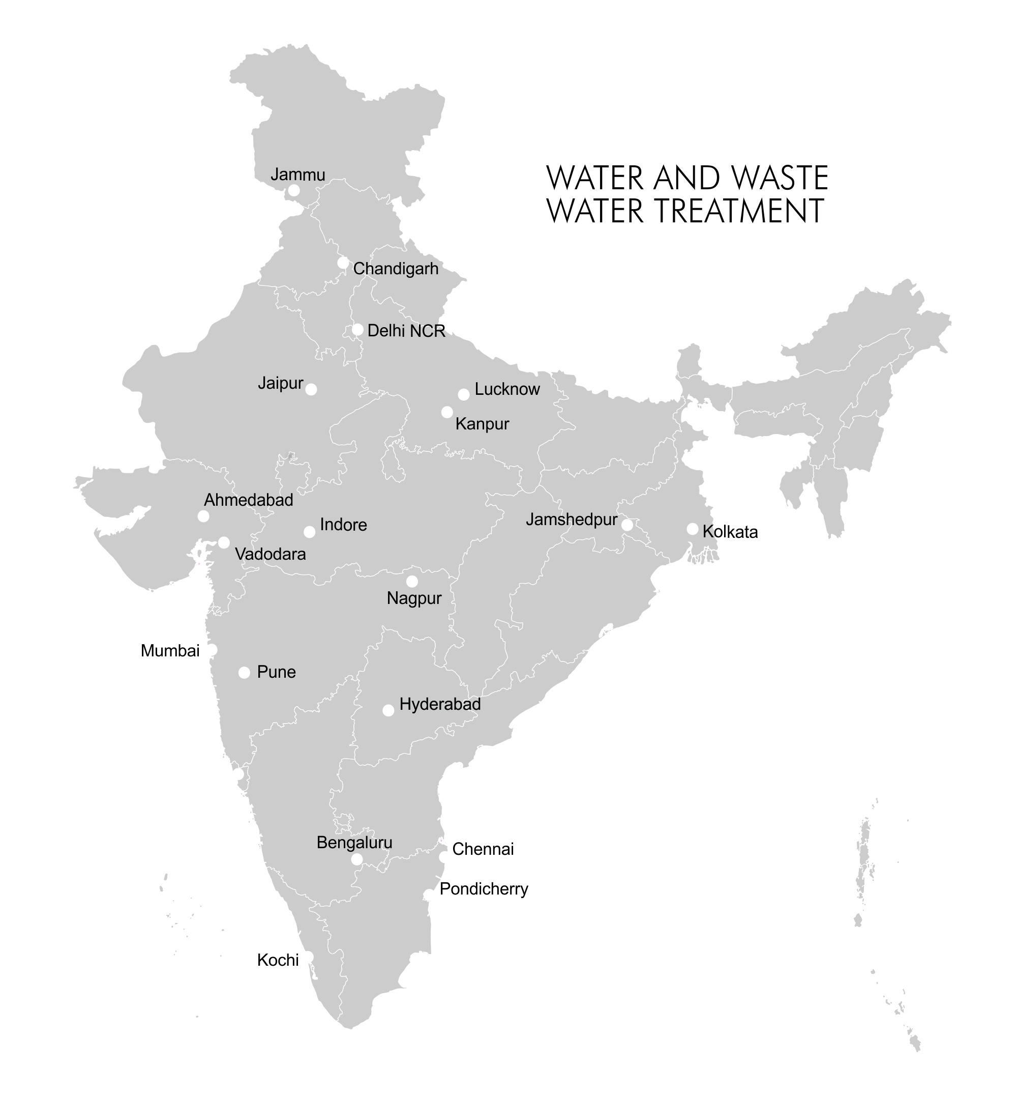 Map - Industry Clusters: Water and Waste Water Treatment